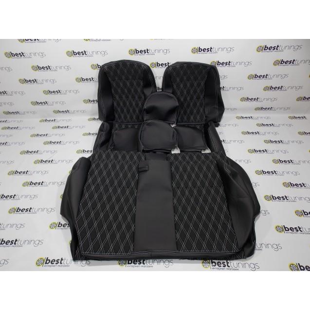 Обивка сидений ВАЗ (кожа+ткань)+ромб