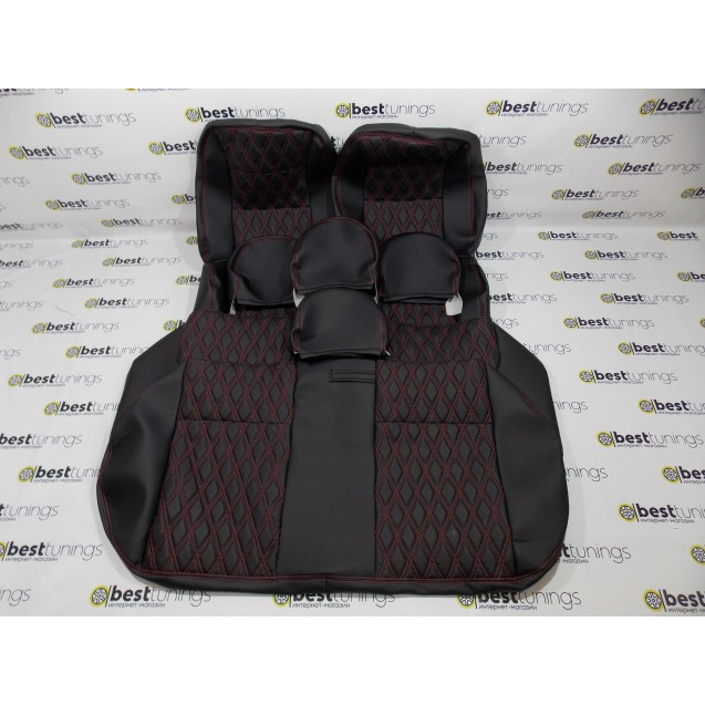 Обивка сидений ВАЗ 2107 (кожа+кожа)