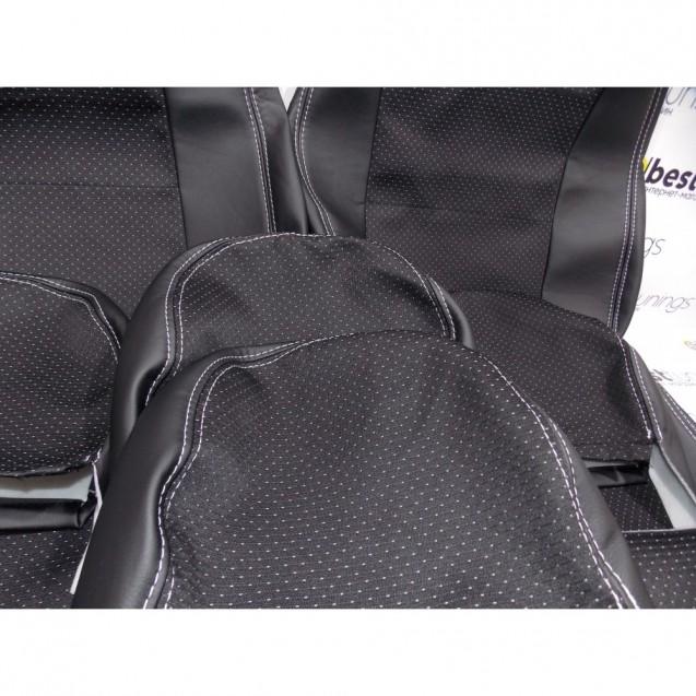 Чехлы на сиденья ВАЗ 2107 (кожа+ткань искра,ультра)