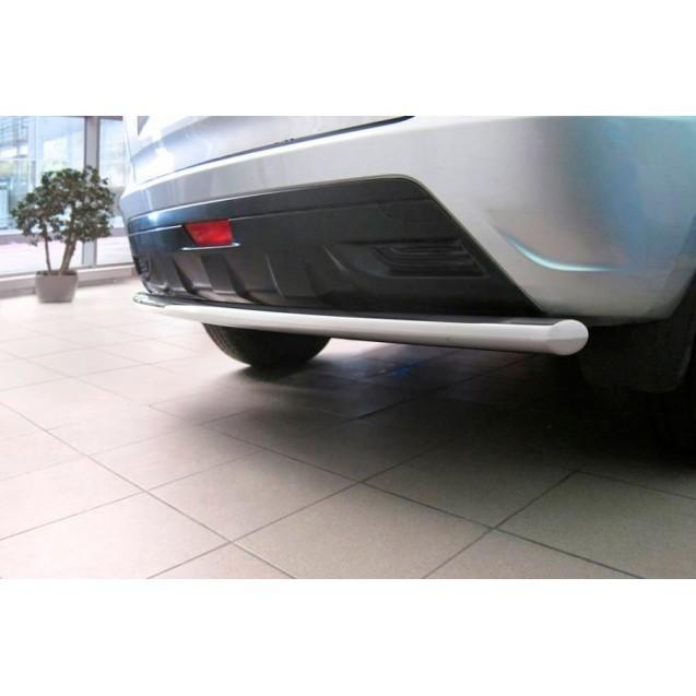 Защита заднего бампера одинарная 51мм, нержавеющая полированная сталь , LADA XRAY 2016