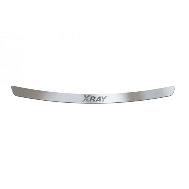 Накладка на задний бампер из нержавейки для LADA XRAY с 2016г