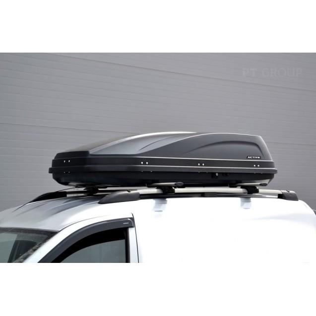Бокс-багажник на крышу Аэродинамический Черный «ACTIVE base» ДВУСТОРОННЕЕ ОТКРЫВАНИЕ