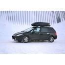 Бокс-багажник на крышу Аэродинамический Чёрный «Turino Sport»