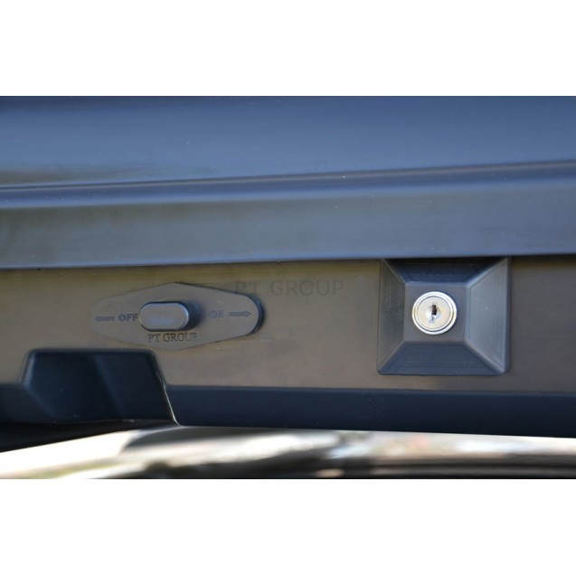 Бокс-багажник на крышу Аэродинамический Белый «Turino Sport»