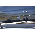 Бокс-багажник на крышу Аэродинамический Серый «Turino Compact»