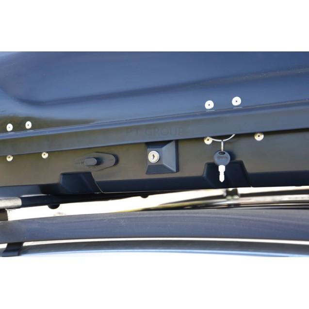 Бокс-багажник на крышу Аэродинамический Белый «Turino Compact»