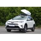 Бокс-багажник на крышу Аэродинамический Белый «Turino 1 Lux»