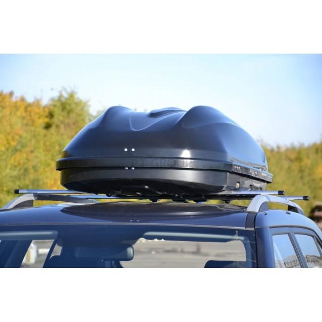 Бокс-багажник на крышу Аэродинамический чёрный «Turino Compact»