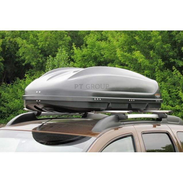 Бокс-багажник на крышу Аэродинамический Черный «Turino 1»