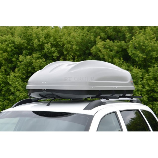 Бокс-багажник на крышу Аэродинамический Серый «Turino 1»