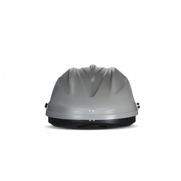 Бокс-багажник на крышу Аэродинамический Серый «Turino Compact» ДВУСТОРОННЕЕ открывание