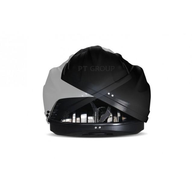 Бокс-багажник на крышу Аэродинамический Черный «Turino Sport» ДВУСТОРОННЕЕ открывание