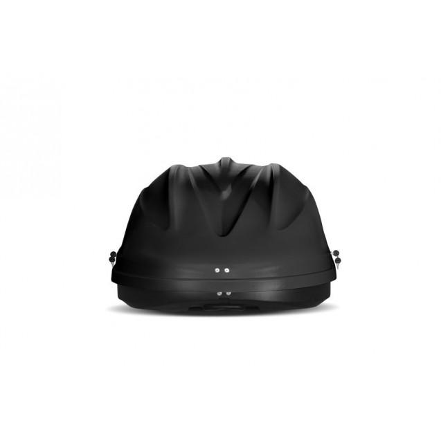 Бокс-багажник на крышу Аэродинамический Чёрный «Turino Compact» ДВУСТОРОННЕЕ открывание