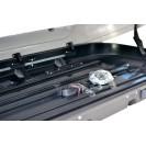 Бокс-багажник на крышу Аэродинамический Черный «Turino 1» ДВУСТОРОННЕЕ открывание
