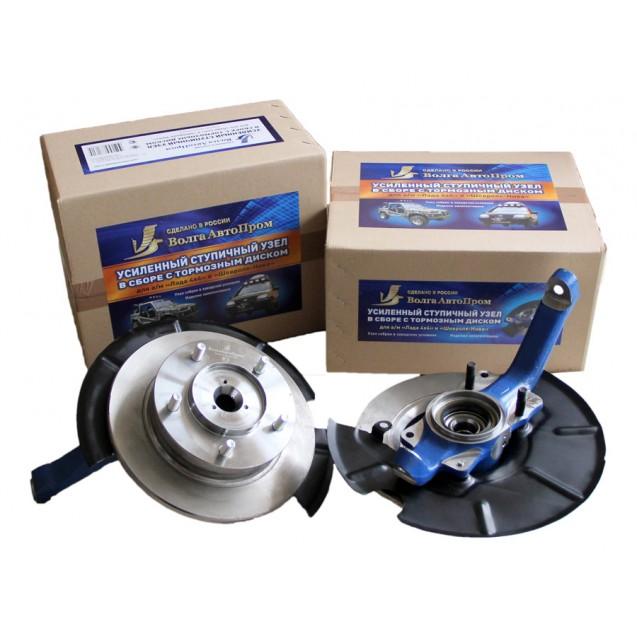 Усиленный ступичный узел для а/м Лада 4х4 и Шевроле-Нива с усиленной ступицей 2123(24 шлица), с АБС в сборе с тормозным диском, собранный в заводских условиях