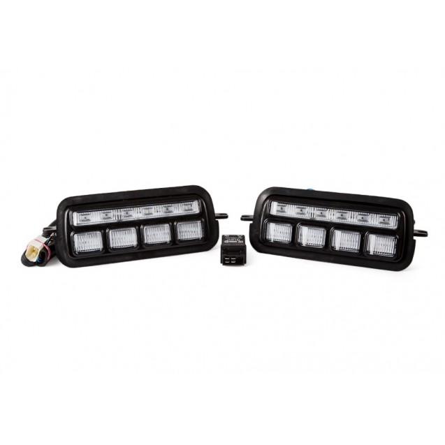 Оригинальные светодиодные (LED) подфарники ТЮН-АВТО с ДХО и динамическими поворотниками для Лада Нива 4х4