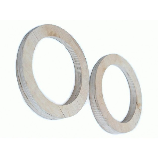 Проставочные кольца для установки динамиков 16 см в обшивки дверей Лада Гранта (фанера)