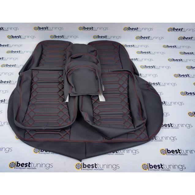 Обивка сидений Ваз  Кобра 2107 (кожа+кожа)