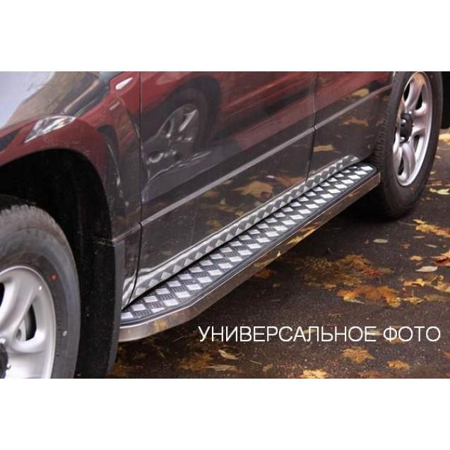 Защита порогов RS09ss(20х40) ВАЗ 2123 Chevrolet Ni