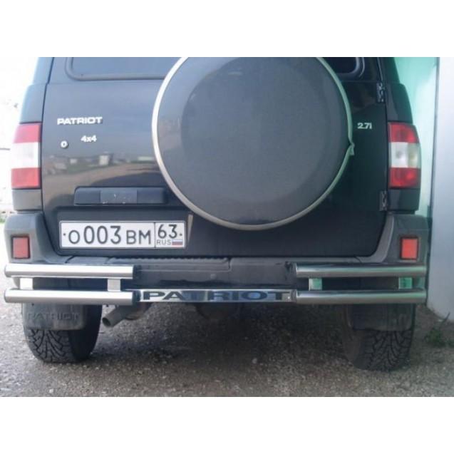 Защита заднего бампера 02 УАЗ Patriot