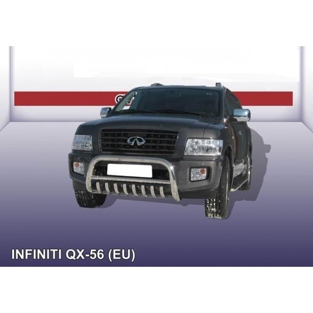 Кенгурятник низкий ф 76 с защитой картера QX56