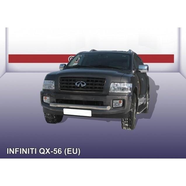 Защита переднего бампера ф 76 QX 56