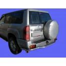 Задняя защита Nissan Patrol(с площадкой)