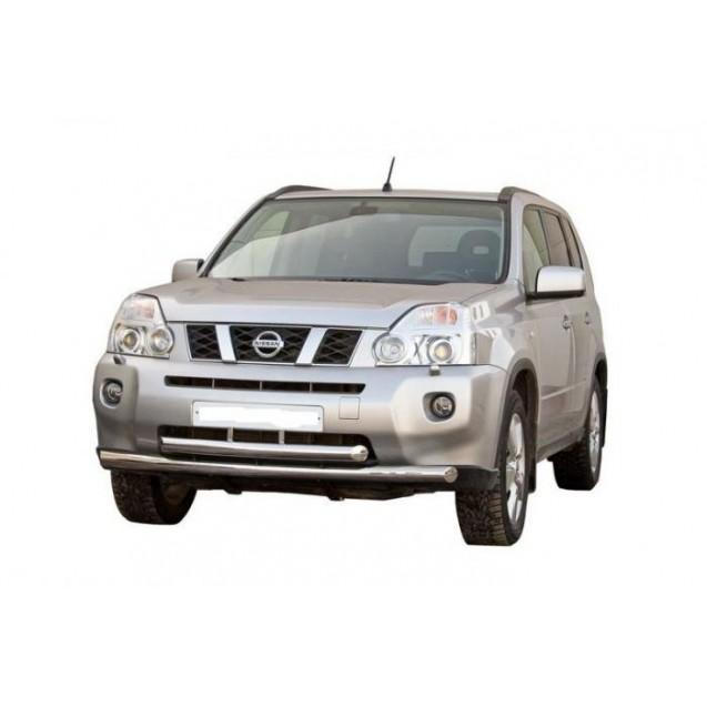 Передняя защита труба двойная Nissan X-Trail