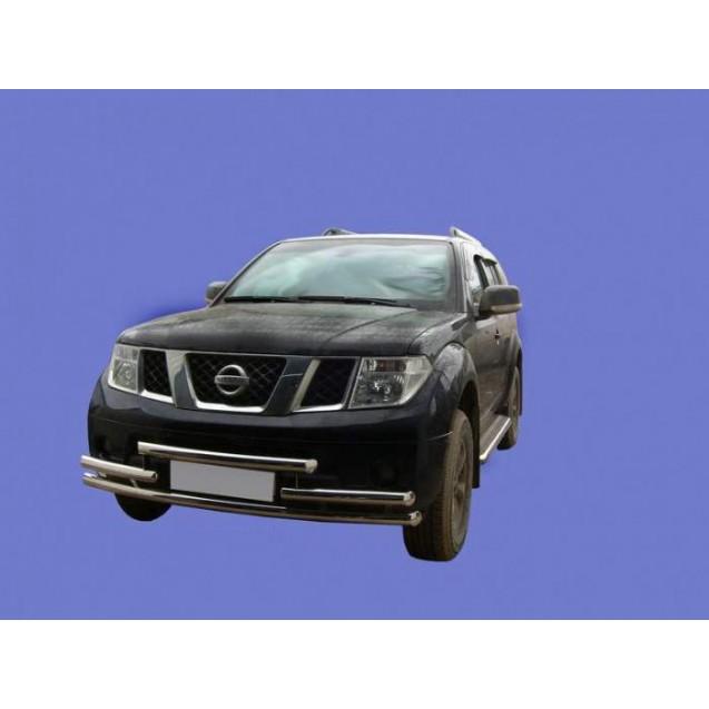 Передняя защита тройная Nissan Pathfainder