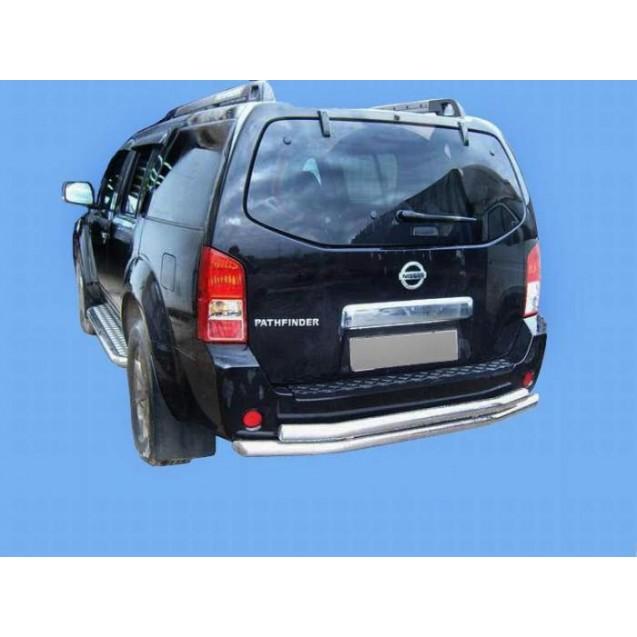 Задняя защита труба двоная Nissan Pathfainder