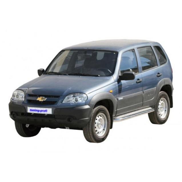 Защита порогов RS 07(ss) ВАЗ 2123 Chevrolet Niva R