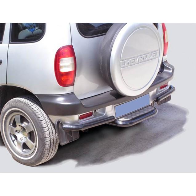 Защита з.б. zadbamper03 на ВАЗ 2123 Chevrolet Niva